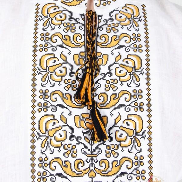 Рубаха Цветочный орнамент, лен