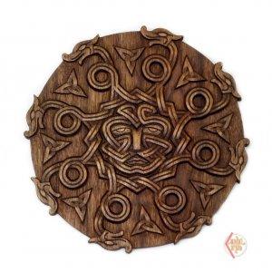 Панно Змеевик орех ручная резка 23 см