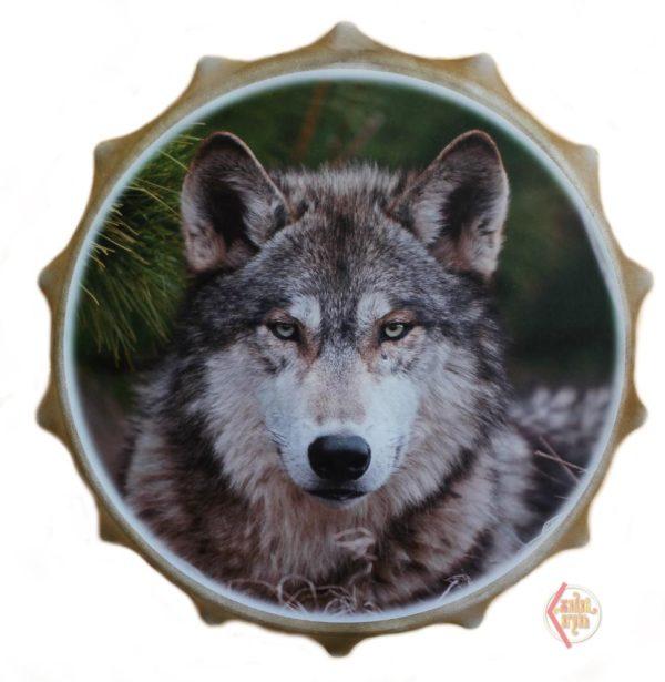 Бубен круглый с рогами 50см Волк