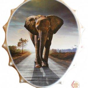 Бубен яйцевидный с рогами 70см Слон