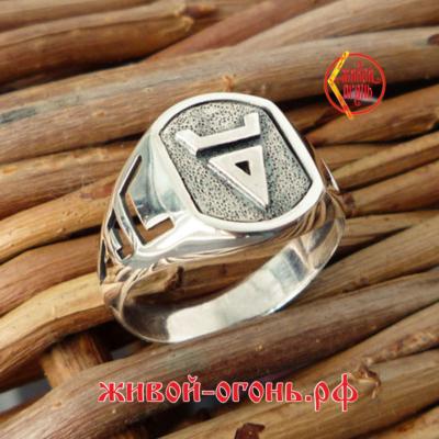 Кольцо символ Велеса 2 – О – Живой Огонь3