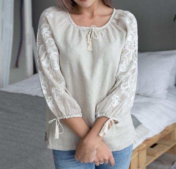 Славянская женская Рубаха - Нежные цветы