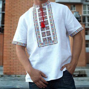 Славянская Рубаха Агний короткий рукав