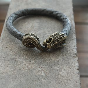 Браслет Дракон - кожа змеи