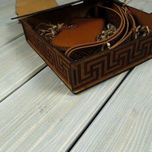 Подарочный набор из кожи - Орнамент