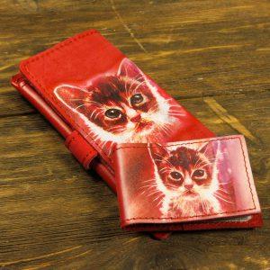 Подарочный набор из кожи котенок