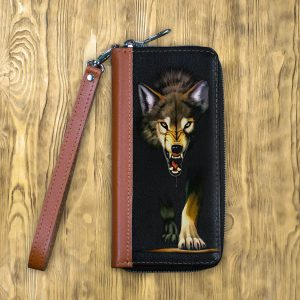 Клатч на молнии Агрессивный волк