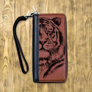 Клатч на молнии Тигр