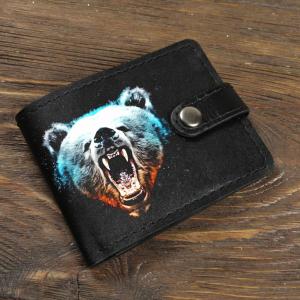 Кожаный кошелек. Оскал медведя
